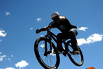 Mountain Biker Blue Sky