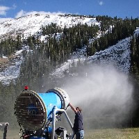 Summer about to super collide with winter in ski country as Loveland cranks up snowmaking guns