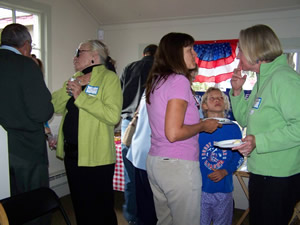 A good crowd inside the new Eagle County Democrats' campaign office