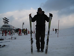 I do love skiing, even in Korea