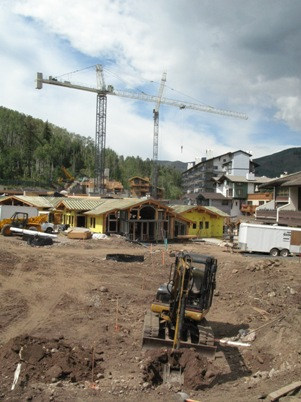 Construction still continues on some new projects in the Vail Valley, but the pace has slowed just as quickly as foreclosure rates have risen.