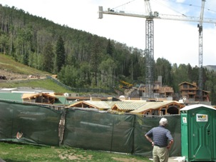 A visitor eyes the Front Door project at the base of Vail's Vista Bahn chairlift. A seemingly endless slate of redevelopment projects has become a hot topic in the Vail Town Council race.