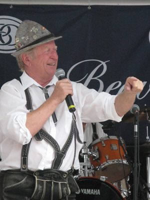 Helmut Fricker, a Vail Valley Oktoberfest staple, works the crowd at last year's festival in Beaver Creek.