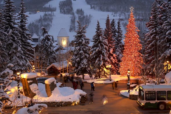 Vail Resorts' holiday numbers were down compared to last season, but lodging numbers were up in comparison to November, 2008.