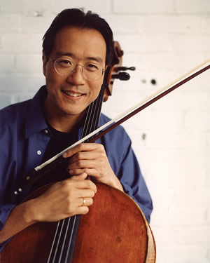 Yo-Yo Ma will take the stage at the Ford Amphitheater June 26 with local kids from the First Notes, Celebrate the Beat and Bravo! Young Composers programs.