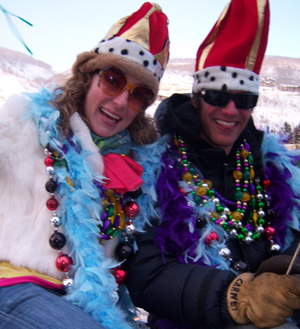 Last year's Mardi Gras king and queen in Vail's