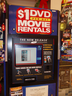 Movie vending machines, like this one at City Market, are the only option outside of the Vail Library for renting movies in Vail.