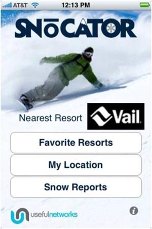 A new iPhone app called snowcator helps skiers and snowboarders find out where they are and where they're going at more than 800 resorts worldwide, even in airplane mode.