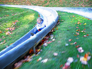 Some say the proliferation of rides like this alpine slide could have detrimental impacts to ski areas operating on public lands.