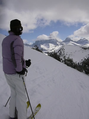 The views of the western slope of Wyoming's famed Teton range are truly spectacular from Grand Targhee ski area.