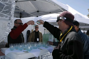 Guests enjoy cocktails at the igloo martini bar by Belvedere at the Mountain Top Picnic at last year's Taste of Vail.