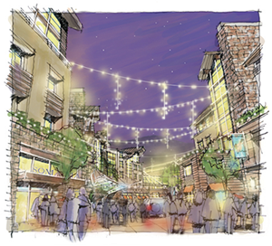 Ever Vail is the largest development proposal in the Town of Vail's history. The area just to the west of The Ritz-Carlton Residences and the Vail Marriot will become Vail's fifth mountain portal with gondola access, public parking, and new mixed-use residential and commercial space.