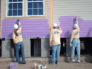 Habitat for Humanity homes (workers shown here in New Orleans in 2007) will be green-built in Edwards, thanks in part to Vail Resorts.