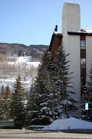 The parking spaces for sale, mentioned in this story, are located beneath the Village Inn Plaza in Vail Village.