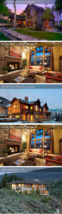 The homes of the July 25 Sonnenalp auction.