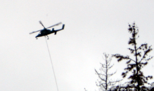 The Timberline Helicopters machine at work.