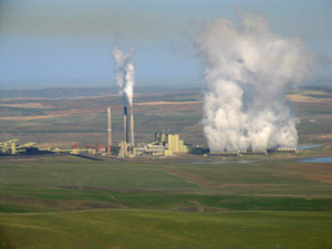 The Craig power plant provides Eagle County with much of its electricity. Holy Cross Energy reports that 59 percent of its energy came from coal in 2007.