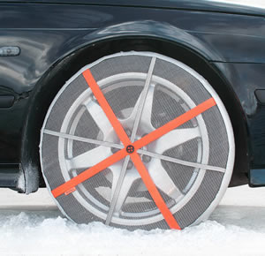 The AutoSock from Norway is being billed as a cheaper, easier-to-use and more effective alternative to convential steel tire chains.