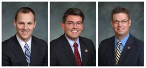 Left to right, state Sen. Josh Penry (R-Grand Junction), Rep. Cory Gardner (R-Yuma) and Rep. Frank McNulty (R-Highlands Ranch)are reportedly backing a nonprofit corporation out of Virginia called Western Skies, which hopes to influence key state senate races on the oil and gas issue.