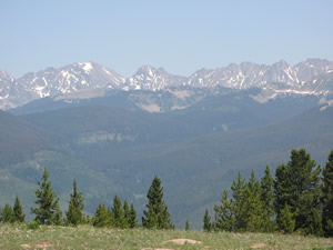 Most of the Gore Range, seen here from Vail Mountain, would not be impacted by a new Colorado roadless rule because it's in the Eagle's Nest Wilderness Area, but some national forest land outside the wilderness may be less protected than it was under a Clinton administration roadless rule in 2001.