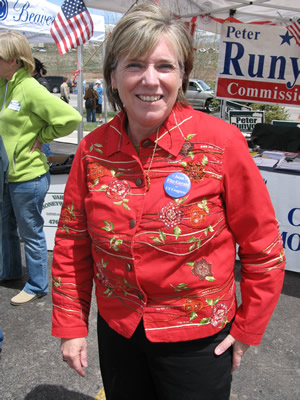 Former state Senate president Joan Fitz-Gerald, recently in Edwards for Cinco de Mayo festivities, won 61 percent of the delegates in the Congressional District 2 Assembly near Denver last weekend.