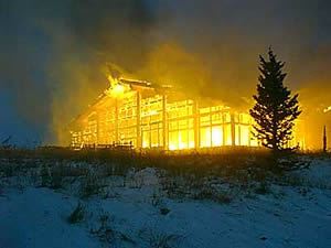 Two Elk Lodge burned to the ground after members of