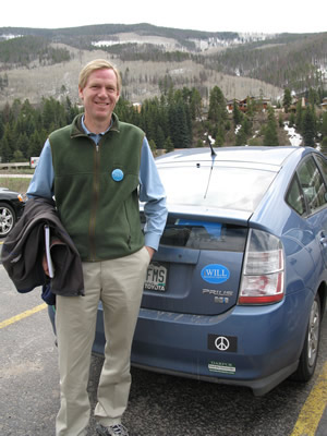 Boulder conservationist Will Shafroth has been touring the 2nd Congressional District of Colorado, which includes Vail, in a Toyota Prius hybrid. Shafroth petitioned his way onto the Aug. 12 Democratic primary ballot