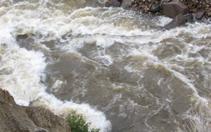 Vail's Gore Creek is still running very high due to a wet spring, and Sunday it claimed the life of a toddler who fell in while on a family walk.