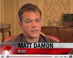 Scroll down and press play to see video of actor Matt Damon questioning the choice of Sarah Palin as Vice Presidential candidate.
