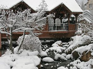 Fresh snow dusted the covered bridge in Beaver Creek Nov. 5. The resort opens for the season Wednesday.
