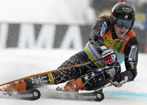 Ted Ligety of Park City, Utah, shown here winning a giant slalom Saturday in Slovenia, has a shot at the World Cup GS title in Bormio, Italy, this week.