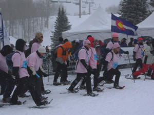 The Snowshoe Shuffle, one of the largest snowshoe events in the country, will take place Sunday, April 5, atop Beaver Creek Mountain at McCoy Park.