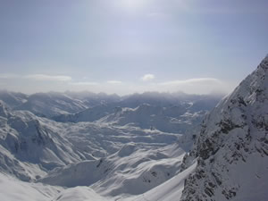 The views in Lech, Austria, reflect the magnificense of the Alps and the endless skiing opportunities in the Arlberg region.