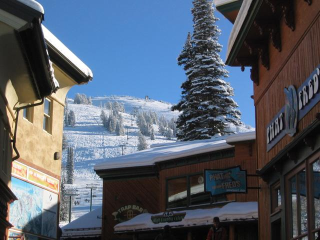 A view from Targhee's cozy base village.