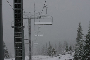 Picture this: snow on Breck's lifts, Vail's Gore Range
