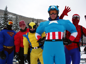 Superhero convention at Beaver Creek