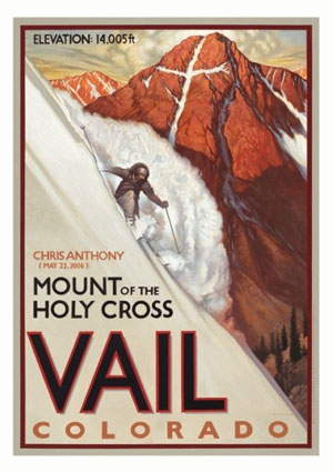 Chris Anthony makes art of skiing Mount of the Holy Cross