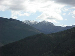 August snow dusts peaks