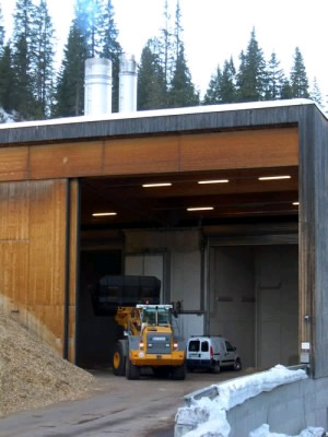 The Lech, Austria, biomass plant on the way into town provides hot-water heat to more than 90 percent of the ski village's hotels and lodges.