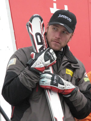 Bode Miller very nearly climbed on his first podium of the season Thursday in a super combined claimed by Swiss skier Daniel Albrecht, who Miller has trained with occassionally since leaving the U.S. Ski Team.