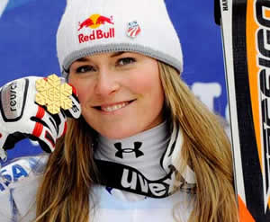Vail's Lindsey Vonn, seen here showing off the super-G gold she won earlier in the week at the World Championships in Val d'Isere, France, just missed a silver medal in the super-combined event Friday.