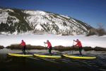 C4 Waterman takes stand-up paddling from surf to snow at Teva Mountain Games in Vail